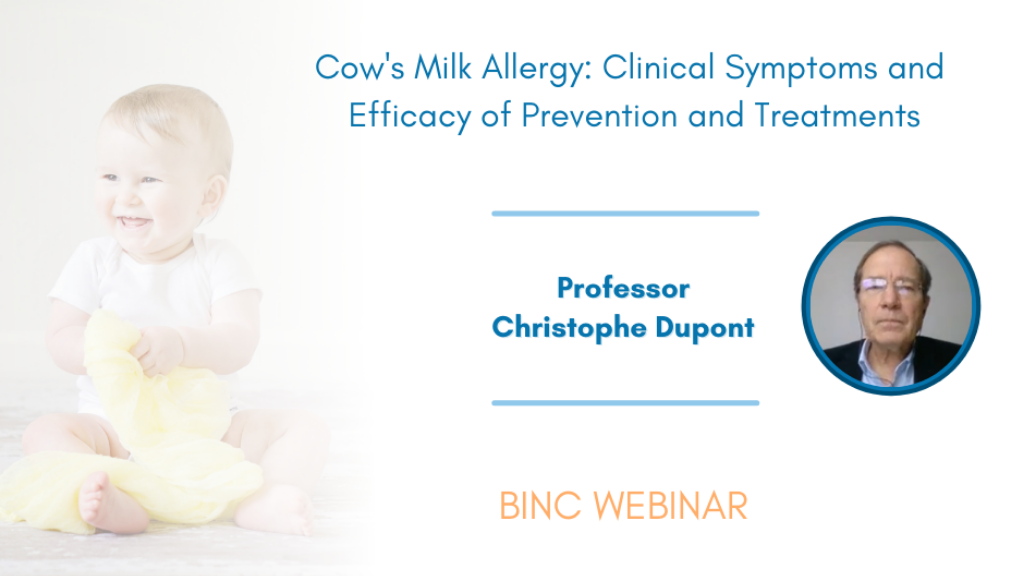 Webinar - Cow's milk allergy by Prof. Christophe Dupont